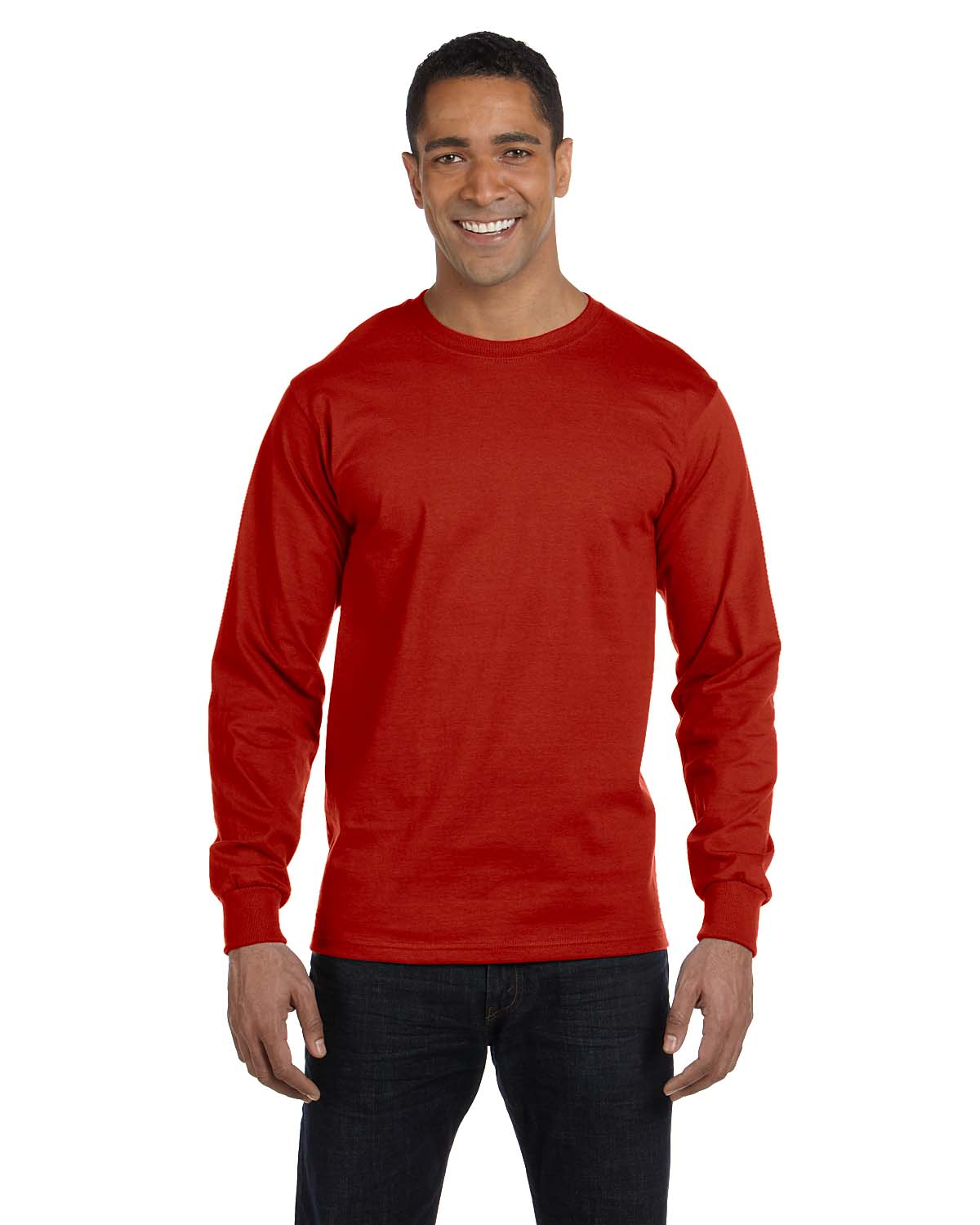 Hanes 5.2 Oz. ComfortSoft® Cotton Long-Sleeve T-Shirt