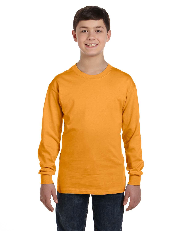 Hanes Youth 6.1 Oz. Tagless® ComfortSoft® Long-Sleeve T-