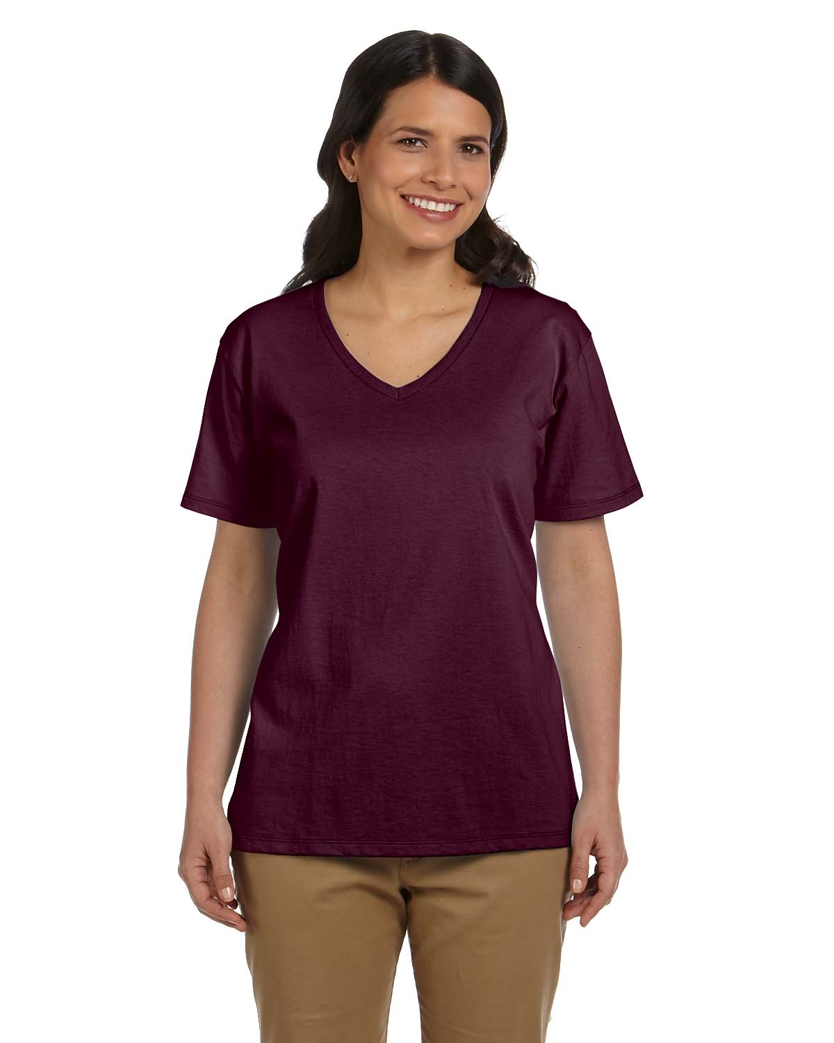Hanes Ladies 5.2 Oz. ComfortSoft® V-Neck Cotton T-Shirt