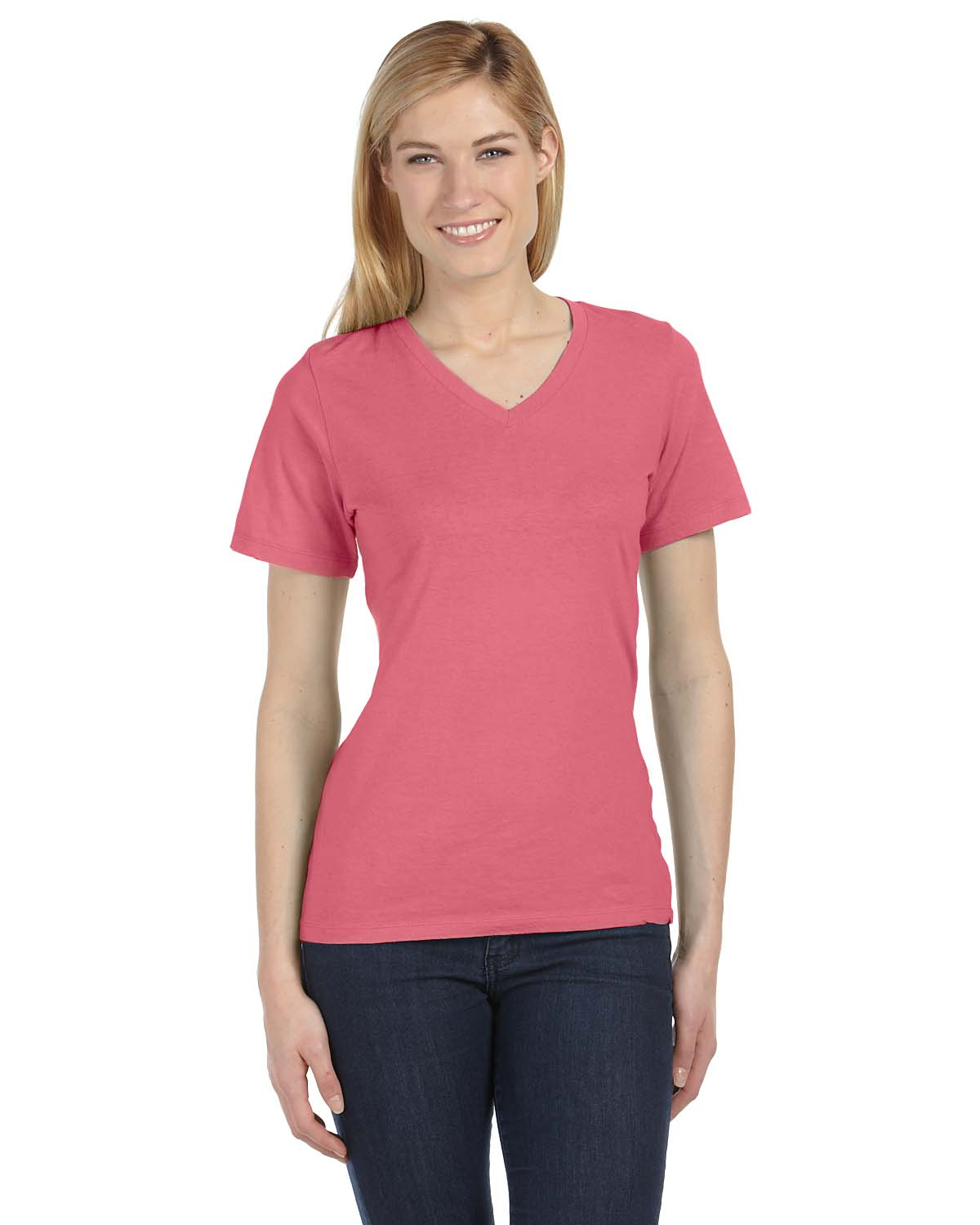 Bella Missys Relaxed Jersey Short-Sleeve V-Neck T-Shirt