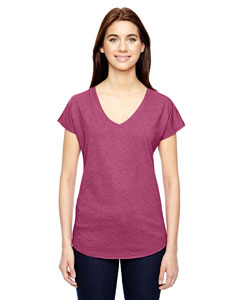 Anvil Ladies Triblend V-Neck T-Shirt