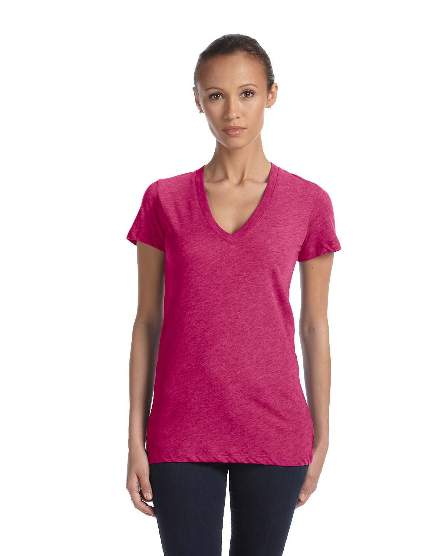 Bella Ladies Triblend Short-Sleeve Deep V-Neck T-Shirt