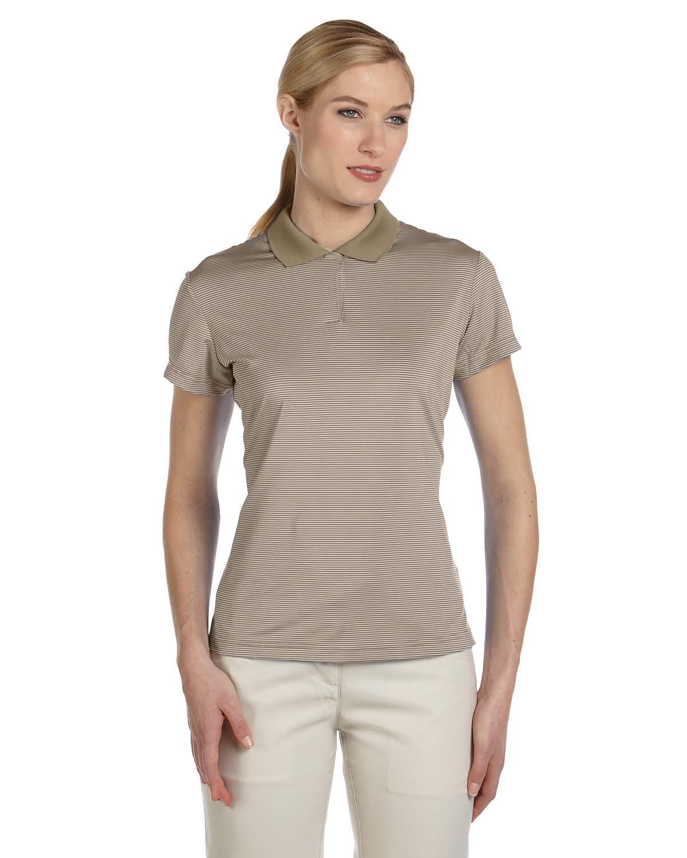 Adidas Golf Ladies Climalite® Classic Stripe Short-Sleeve Po