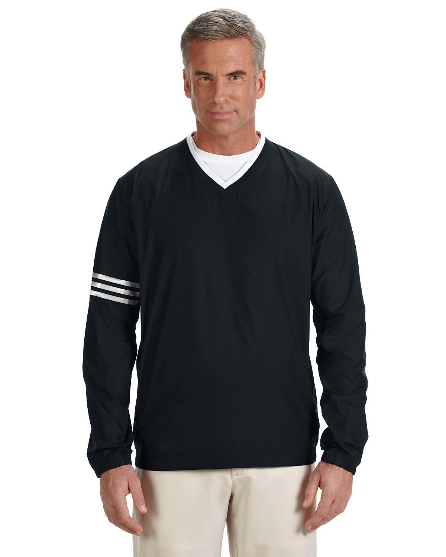 Adidas Golf Mens Climalite® Colorblock V-Neck Wind Shirt