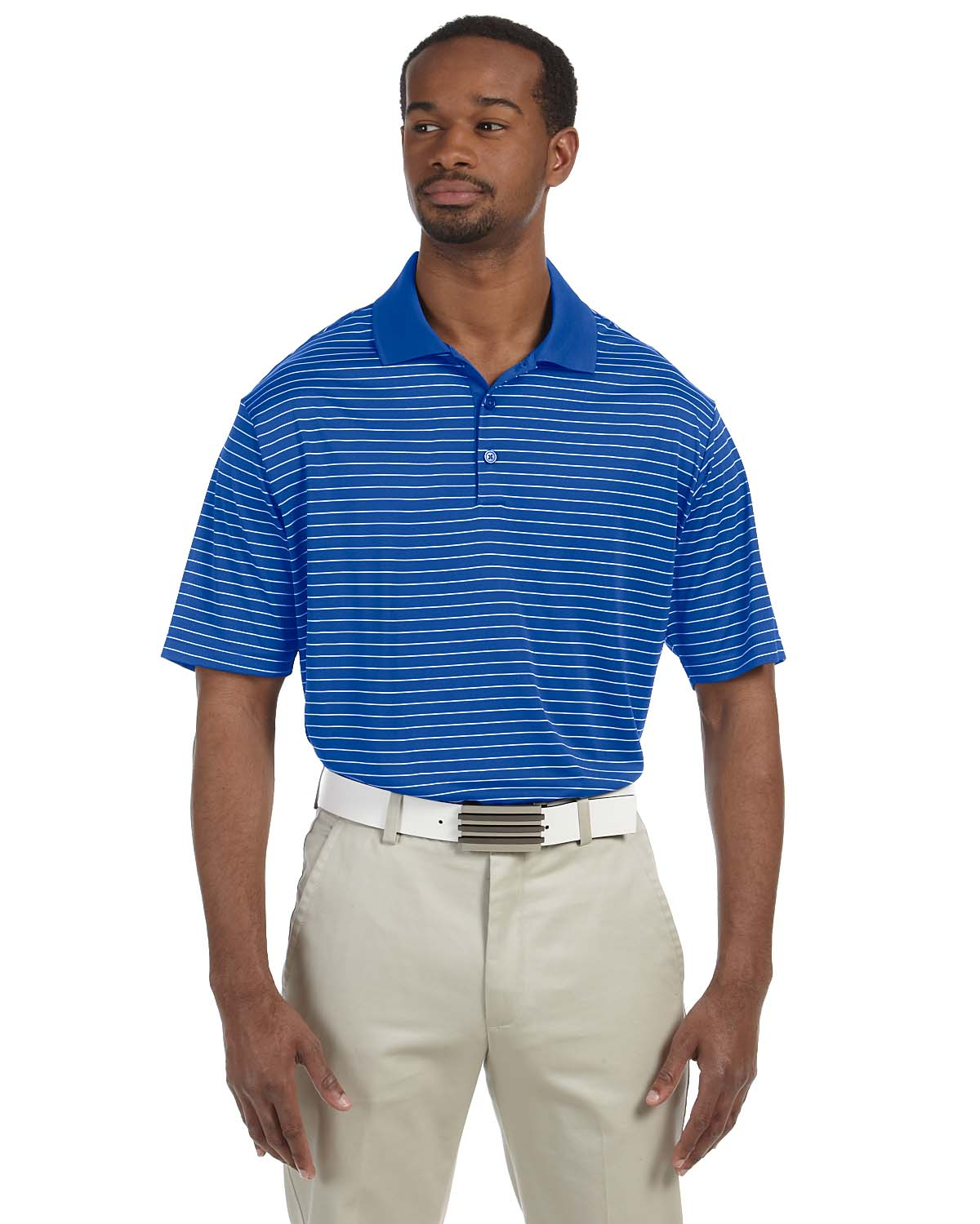 Adidas Golf Mens Climalite® Pencil Stripe Polo