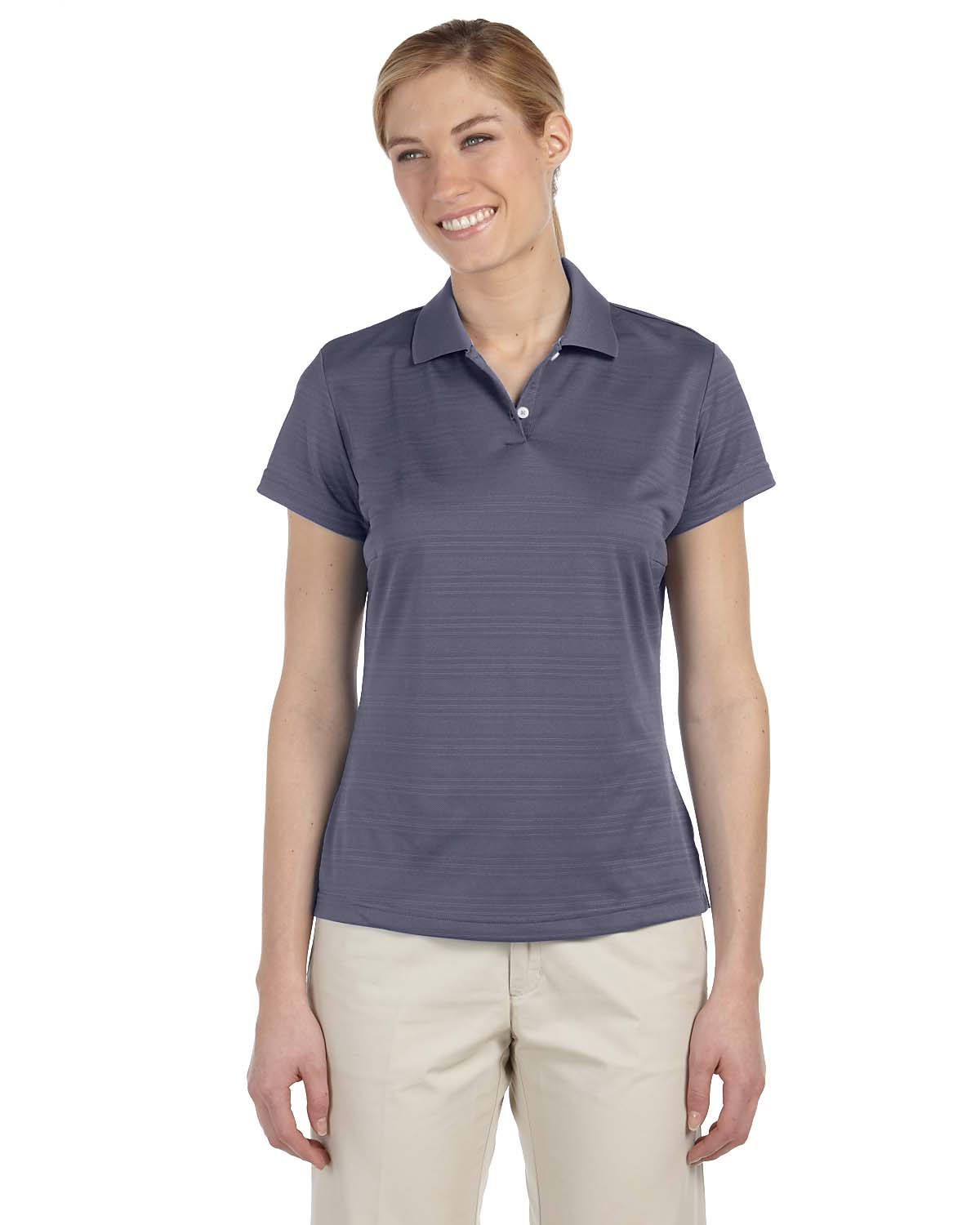 Adidas Golf Ladies Climalite® Textured Short-Sleeve Polo