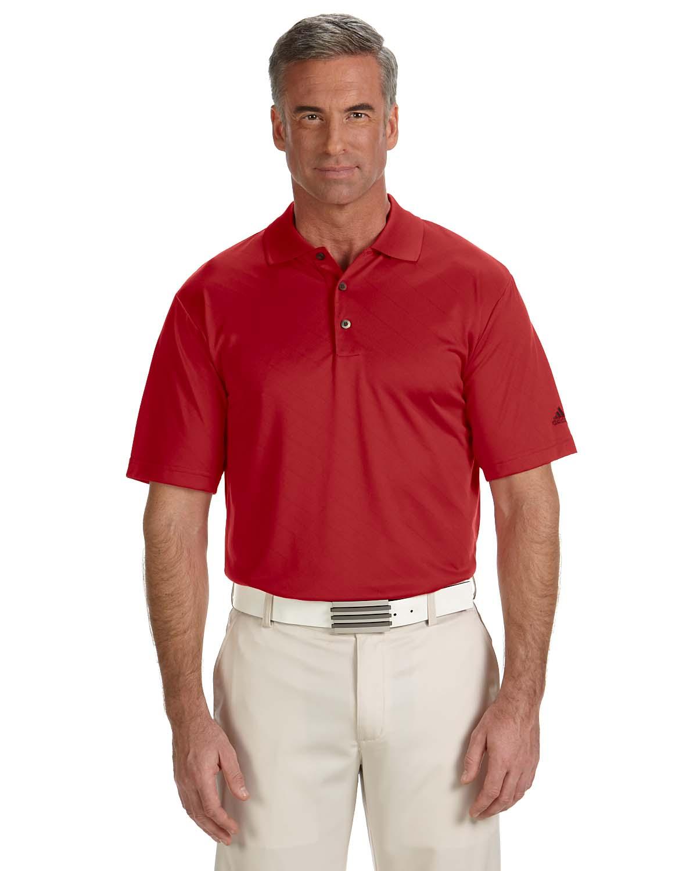 Adidas Golf Mens Climacool® Diagonal Textured Polo