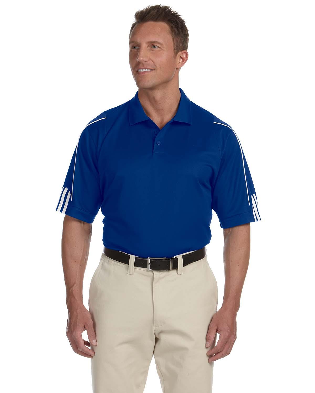 Adidas Golf Mens Climalite® 3-Stripes Cuff Polo