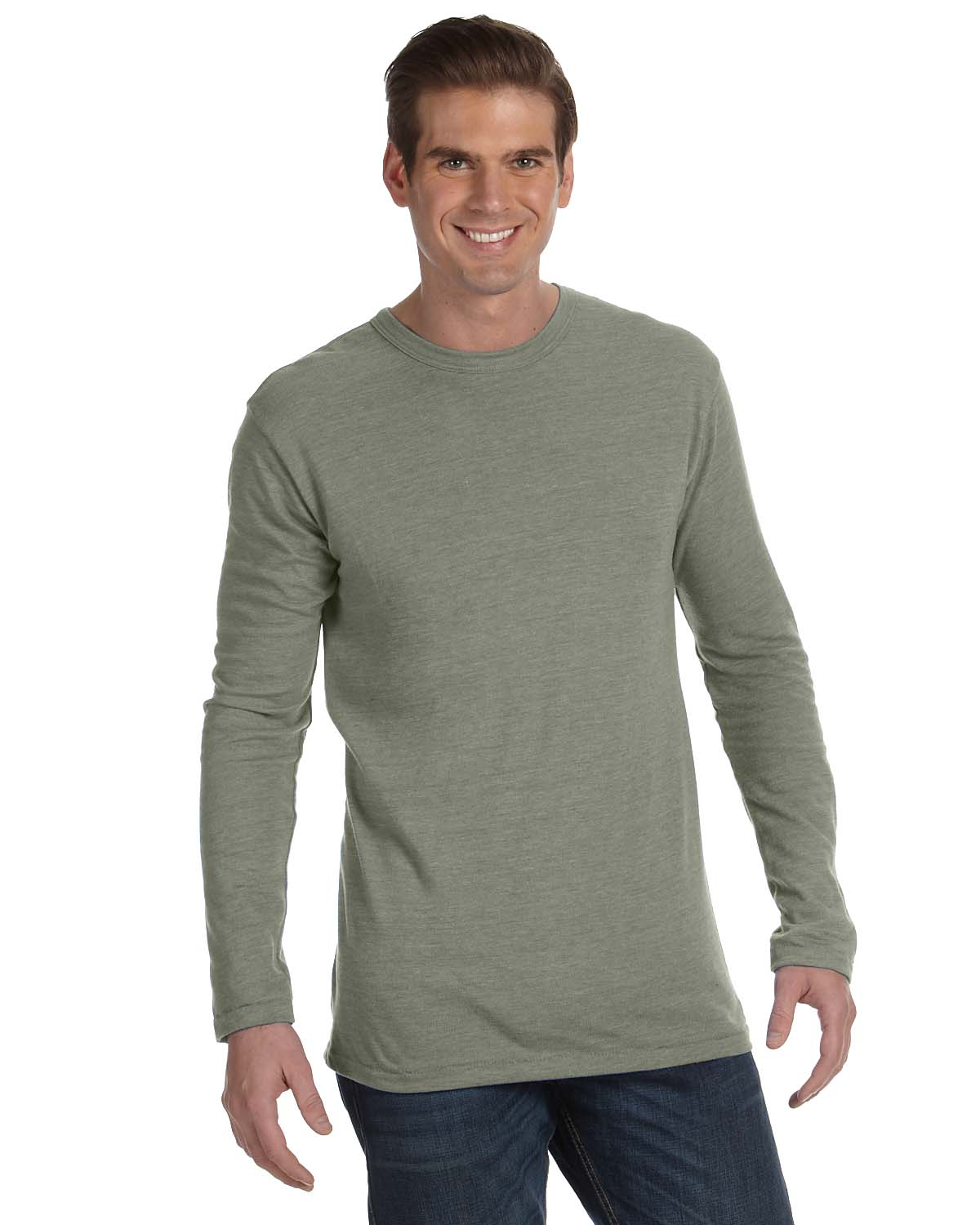 Alternative Mens Long-Sleeve Eco-Jersey Crew