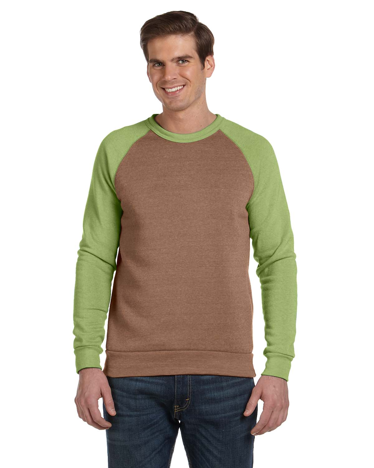 Alternative Mens Champ Colorblocked Fleece Crew