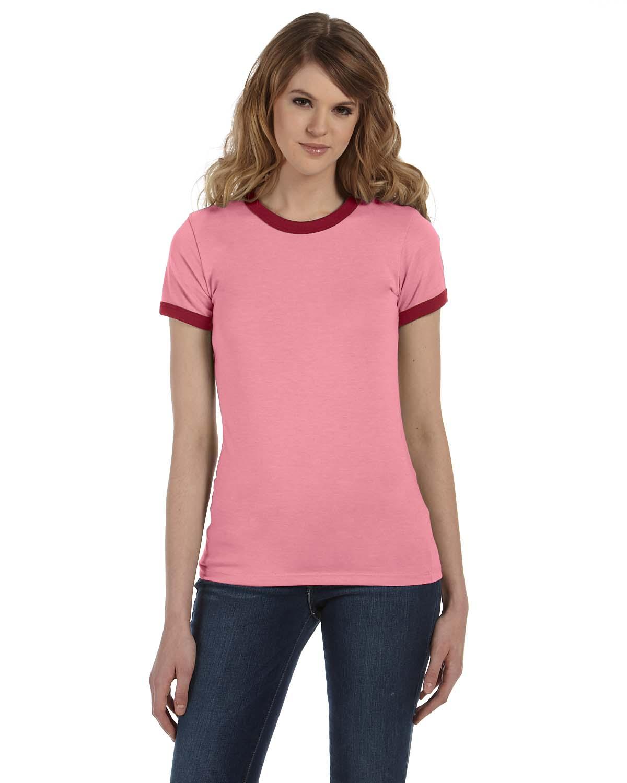 Bella Ladies Jersey Short-Sleeve Ringer T-Shirt