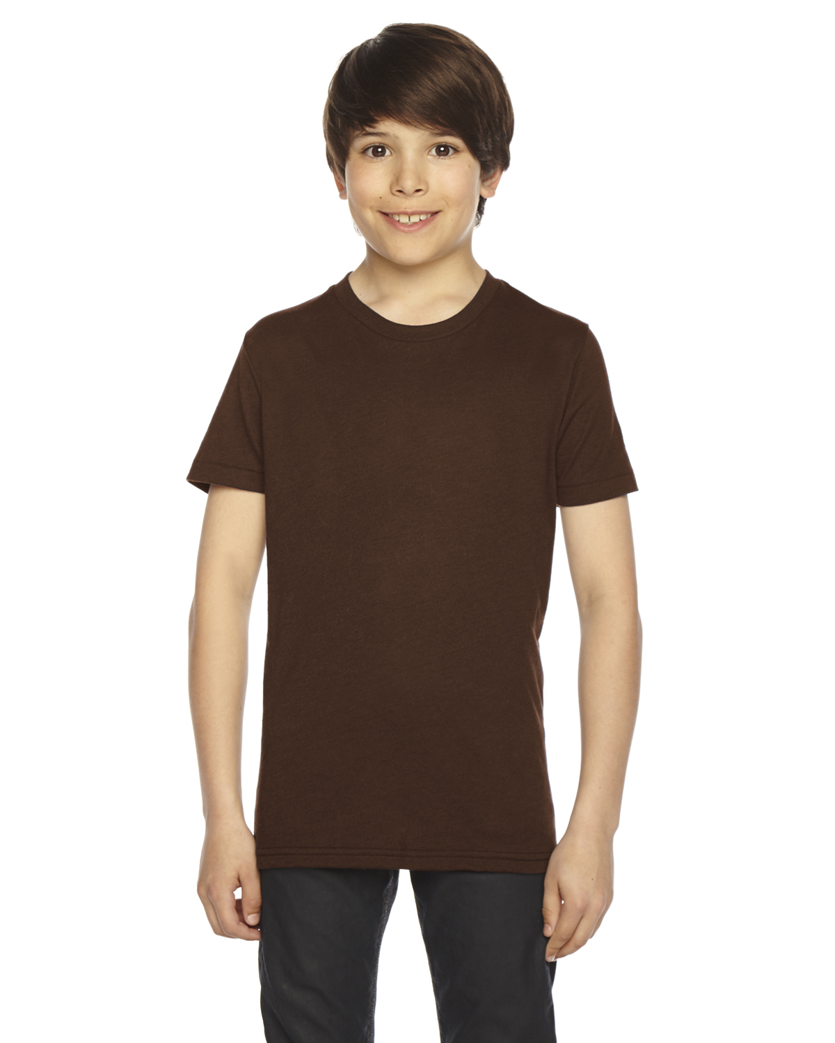 American Apparel Youth Poly-Cotton Short-Sleeve Crewneck