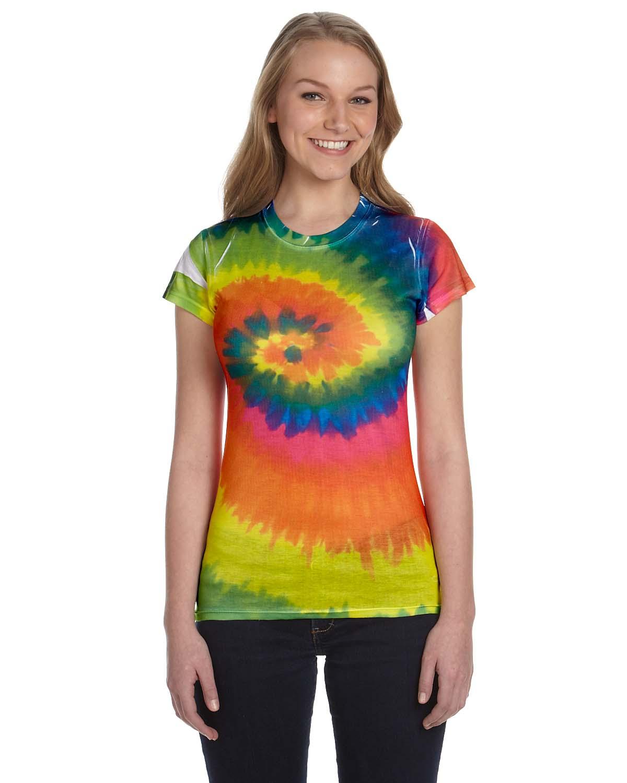 Tie-Dye Juniors 100% Spun Polyester With Moisture Management T-S