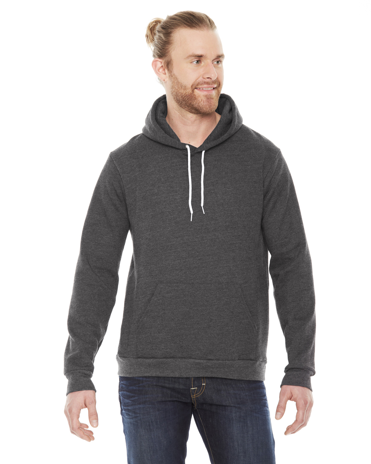 American Apparel Unisex Flex Fleece Drop Shoulder Pullover Hoodi