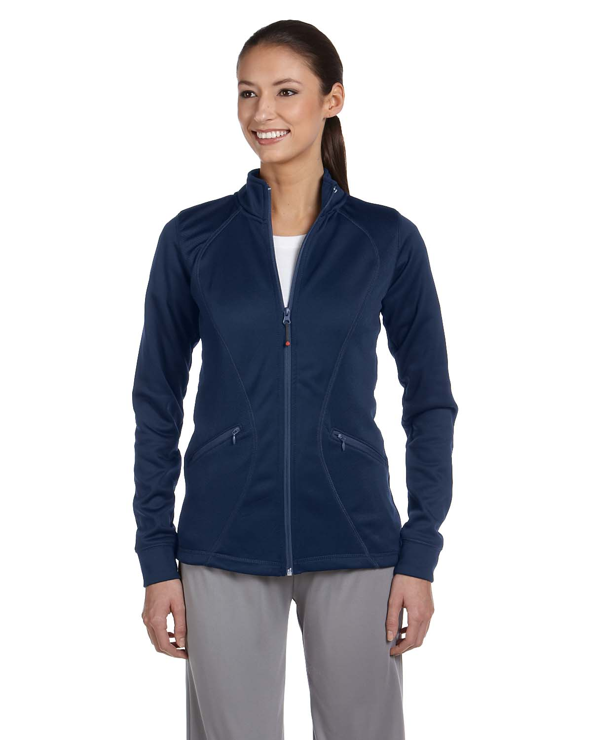 Russell Athletic Ladies Tech Fleece Full-Zip Cadet