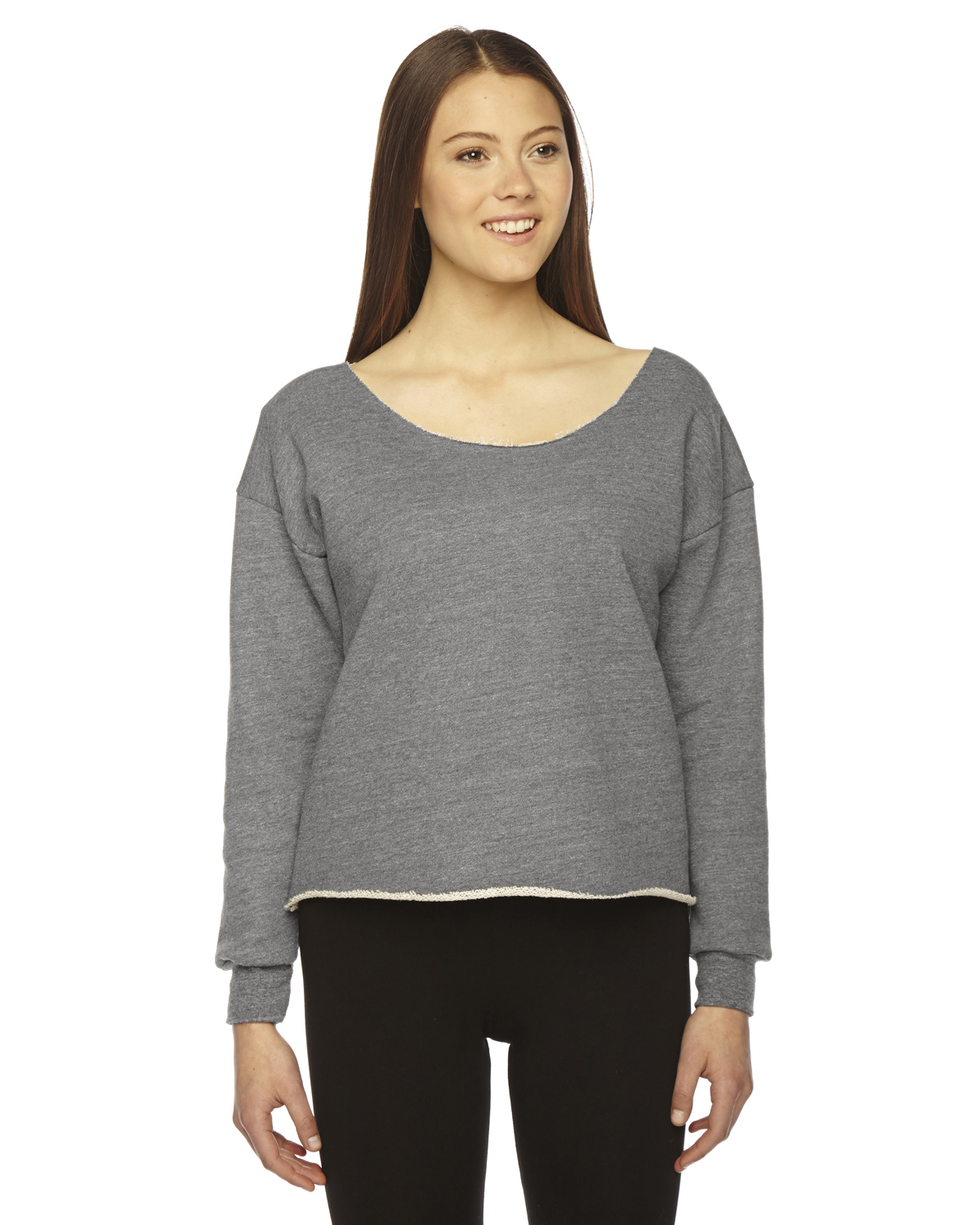 American Apparel Ladies Athletic Crop Sweatshirt