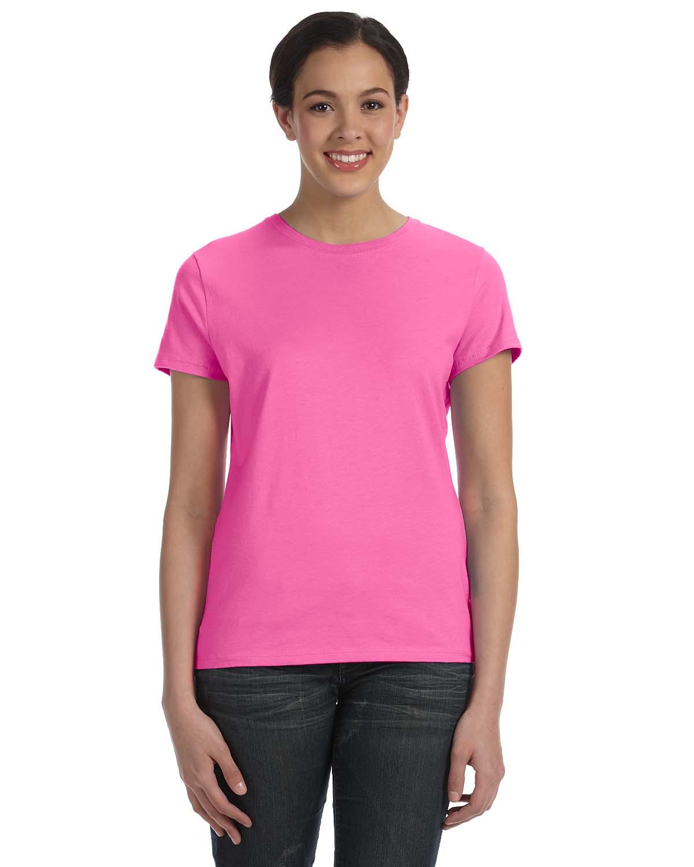 Hanes Ladies 4.5 Oz., 100% Ringspun Cotton Nano-T® T-Shirt