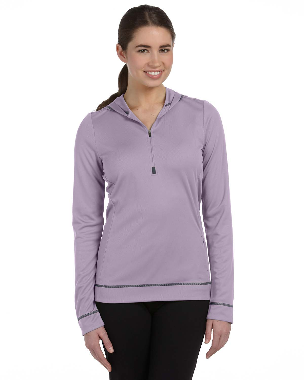 Alo Sport Ladies Half-Zip Long-Sleeve Hoodie
