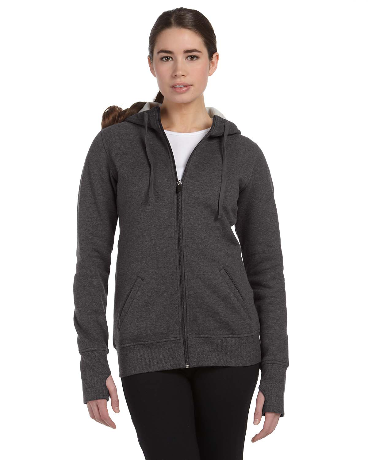 Alo Sport Ladies Performance Fleece Full-Zip Hoodie With Runners