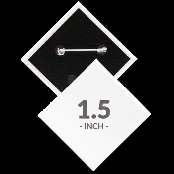 1.5 x 1.5 Inch Diamond Custom Buttons