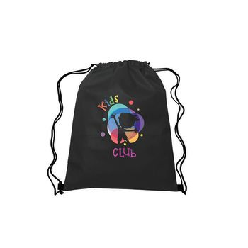 "13"" W x 16.5"" H Full Color Drawstring Non-Woven Bags"