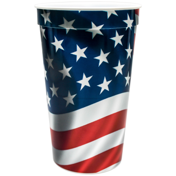 22oz Full Color Wrap Stadium Cups