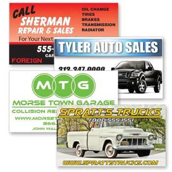 30mil Custom Shaped Outdoor Car Magnets
