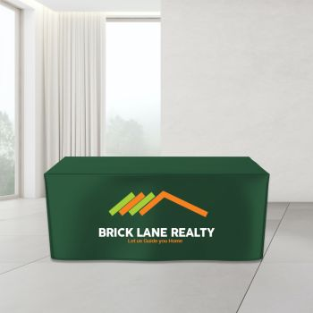 4FT Fitted Trade Show Table Cover - Full Color Imprint