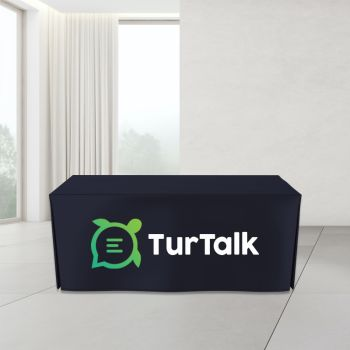 4FT Open Corner Trade Show Table Cover - Full Color Imprint