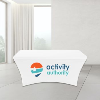 4FT Stretch Spandex Trade Show Table Cover - Full Color Imprint