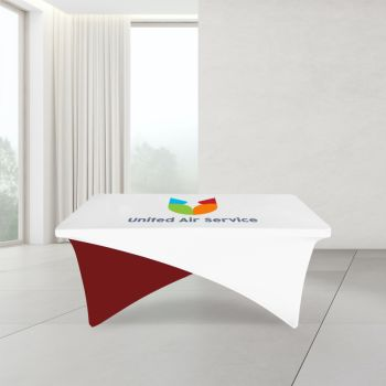 6FT Cross Over Trade Show Table Cover - Full Color Imprint