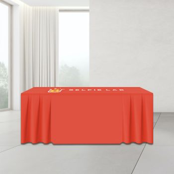 8FT Skirt Trade Show Table Cover - Full Color Imprint