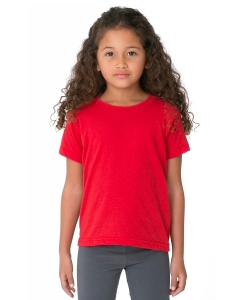 Custom American Apparel Toddlers Poly-cotton Short-sleeve Crewneck