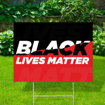 Black Lives Matter Red Yard Signs