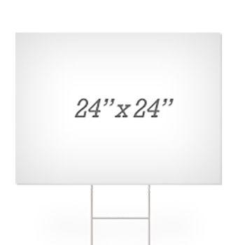 "Blank 24"" x 24"" Yard Signs"