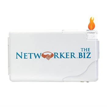 Cigarette Wallet Case Business Card Holder with Lighter