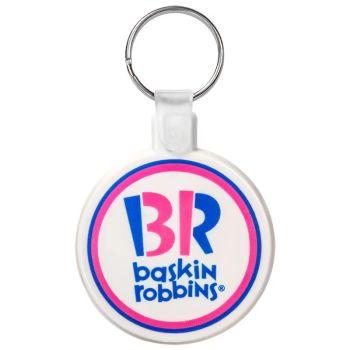 Circle Soft Plastic Keychains