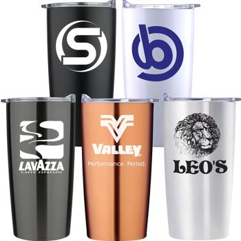 Custom 20 Oz Stainless Steel Vacuum Traveler Tumblers