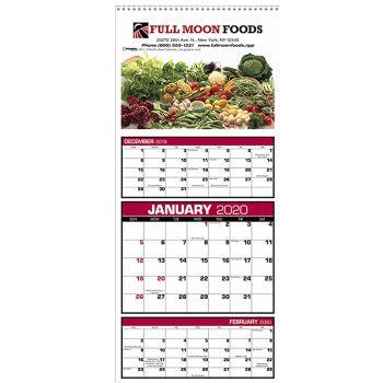 Custom 3-Month View Calendar