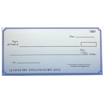 Custom Economy Big Checks 18 x 36 Inch