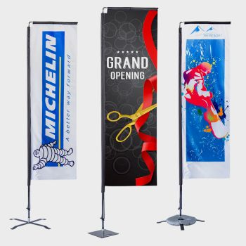 Custom 11' x 2.5' Large Rectangle Flag Banners