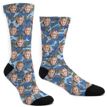 Custom Navy Socks