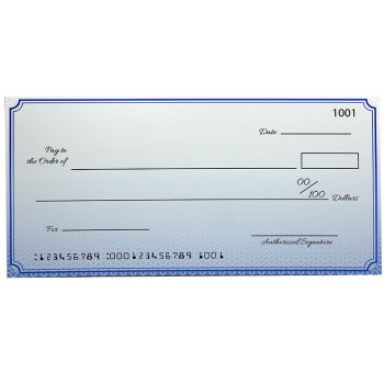Custom Premium Big Checks 18 x 36 Inch