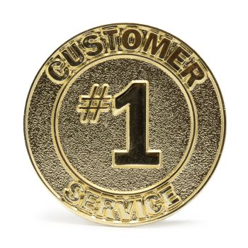 Customer Service 1 Stock Lapel Pins