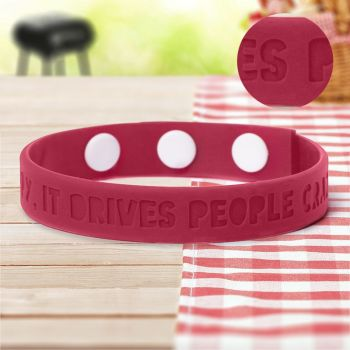 Debossed Silicone Adjustable  Wristbands
