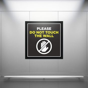 Do Not Touch Wall Square Stickers