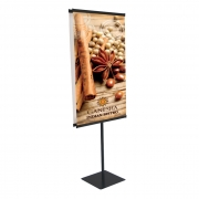 Custom Easy Snap Rail Traditional Banner Display (24