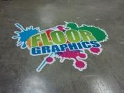 Custom Floor Graphic Ad