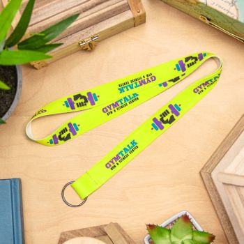 Fluorescent Neon Full Color Lanyards