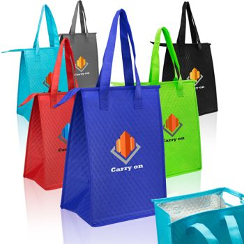 Full Color Zipper Insulated Lunch Tote Bags